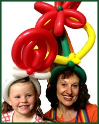 Balloon artist Daisy Doodle was commissioned to twist special lollipop balloons for a corporate event at a restaurant in manhattan