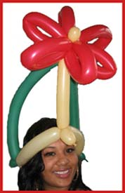 The balloon flower power birthday crown is a very popular choice for adult women who are celebrating their birthdays