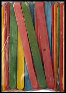 Popsicle sticks are basis of many kids birthday party craft projects in NY, NJ, CT