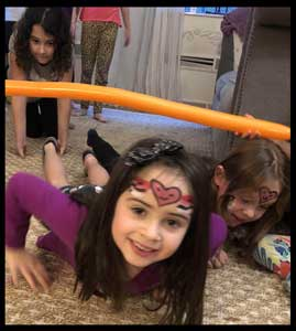 Kids love limbo dancing at birthday parties nyc