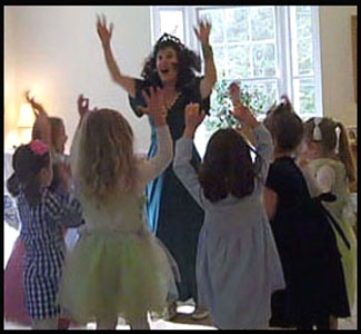Daisy Doodle guides kids at princess dance party