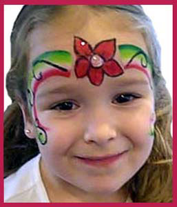 Girls love this face painting in nyc-flower rainbow crown