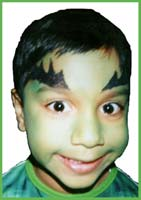 The Hulk facepainting is a popular choice for boys superhero facepainting at childrens parties in queens ny.