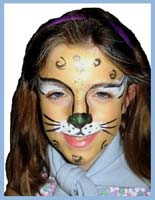 Older girls like to be painted as leopards for party entertainment