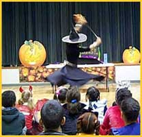 Halloween magician Daisy Doodle's musical opening number for kids Halloween party in nyc.
