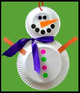 Making a snowman with paper plates is easy holiday party craft project nyc