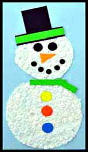 Snowman craft project is fun kids holiday entertainment