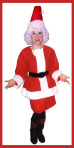 Entertainer Daisy Doodle dressed as Ms. Santa character for kids christmas party in Manhattan NY