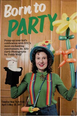 "Time Out Kids magazine article on ""NYC's most enchanting entertainers"""