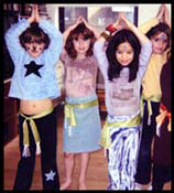 Girls learn Belly dancing from entertainer Daisy Doodle at this birthday party in Long Island new york