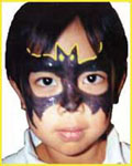 Batman face painting for childrens parties in new york