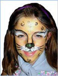 Cheetah face painting for kids party entertainment in ny