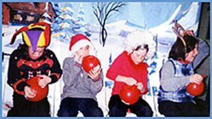 Children participating in a holiday party in new york for kids party entertainment