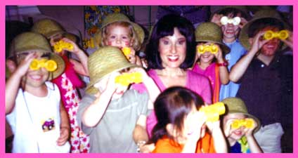 Kids entertainer Daisy Doodle is a Dora the Explorer character at a childrens birthday party in New York.