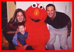 Elmo Poses With Birthday Boys Family At His Todder Party In Nyc See Him Smile Character Good For 123 Year Old Kids